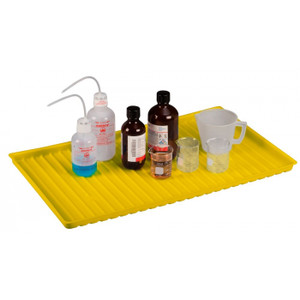 Yellow Poly Tray For Shelf #29939, #29949 And 22 Gallon Undercounter Or 23 Gallon Under Fume Hood Safety Cabinet
