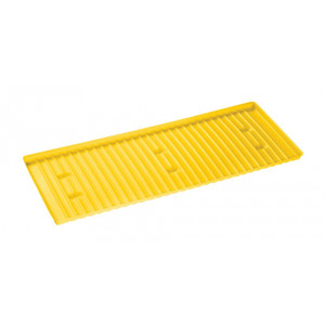 Yellow Polyethylene Tray Sump For Shelf #29937 Or 30, 40, And 45 Gallon Safety Cabinets