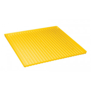 Yellow Polyethylene Tray And Sump Combination For Shelf No. 29944 Or 60-Gallon Safety Cabinet