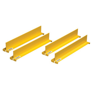 "Shelf Dividers Fit Shelf Depth Of 14"", Set Of 4, Yellow"