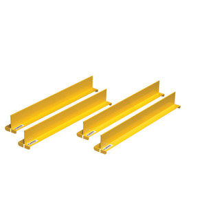 "Shelf Dividers Fit Shelf Depth Of 18"", Set Of 4, Yellow"