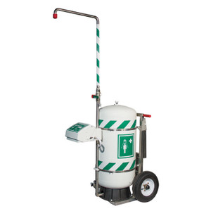 Mobile Emergency Safety Shower with Eye and Face Wash, Self-Contained, 30 Gallon