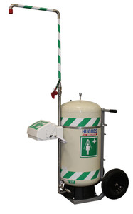 Mobile Emergency Safety Shower with Eye and Face Wash, Insulated,  Self-Contained, 30 Gallon