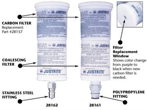 Justrite Coalescing Carbon Filter for Steel Quick Disconnect Safety Cans