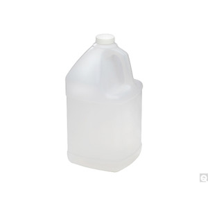 128oz (3,840mL) HDPE Handled Square Jug with 38-400 White PP SturdeeSeal® PE Foam Lined Cap, case/4