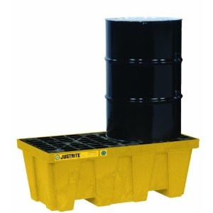 Justrite® Spill Containment Pallets, 2-Drum Recycled, Yellow