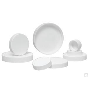 24-410 White Ribbed Polypropylene Cap with SturdeeSeal® PE Foam Liner, case/4300