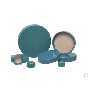 8-425 Green Ribbed Thermoset Cap with F217 & PTFE Liner, case/31000