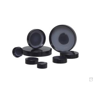 48-400 Black Phenolic Cap with Solid PE Liner, case/1248