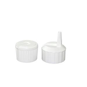 24-410 White Polyethylene Unlined Flip Top Cap, case/1880