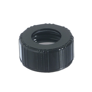 15-425 Black Phenolic Unlined Hole Cap, case/12600