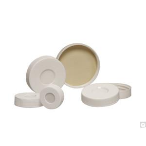33-400 White Polypropylene Hole Cap with Bonded PTFE/Silicone Septa, case/1000