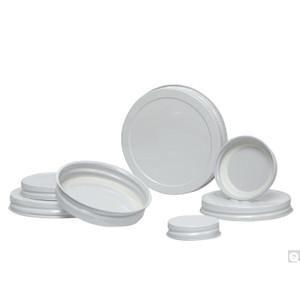 48-400 White Metal Cap with Plastisol Liner, case/2300