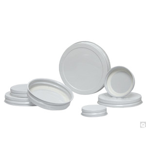 89-400 White Metal Cap with Plastisol Liner, case/700