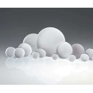 43-400 White Ribbed Polypropylene Unlined Cap, case/2200