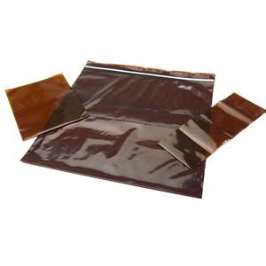 "3 x 5 "" LDPE 3 MIL Amber Zipper Bags, case/1000"