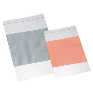 "3 x 5"" LDPE 2 MIL Clear Zipper Bags with White Write-On Block, case/1000"