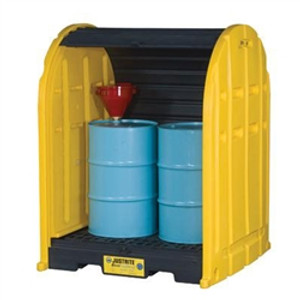 Justrite® 2-Drum Containment Poly Storage Sheds