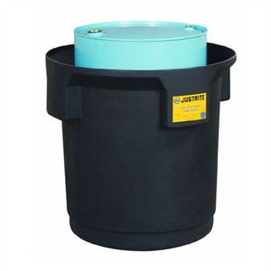 Justrite® 1-Drum Containment Pallet & Collection Station