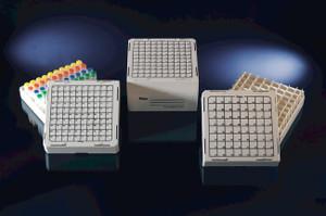 Nalgene® CryoBoxes, (25) 1.2-2.0mL CryoTube, White PC, case/48