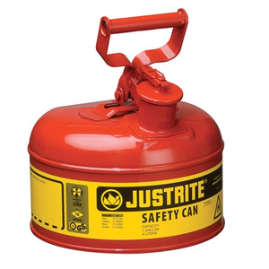 Justrite® Type I Steel Safety Can for Flammables, 1 gallon, Red