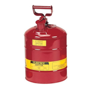 Justrite® Type I Steel Safety Can for Flammables, 2.5 gallon, Red