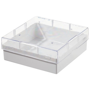 Nalgene® Compact / Dense Storage, PC CryoBox, White with Clear Lid, case/24
