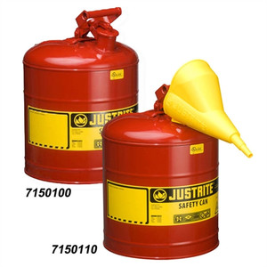 Justrite® Type I Steel Safety Can for flammables, 5 gallon, Red