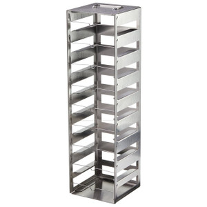 Nalgene® CryoBox, Freezer Racks, 9x9 Box, 1.2/2mL, 9 Shelf, 14 x 14.3 x 22.5cm, case/4