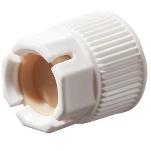 "Nalgene® PP Spigot Closure with PP Lock Nut and TPE plug, Fits 1-1/8"" Spigot Boss, case/24"
