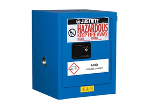 Justrite® EX Countertop HazMat Safety Cabinet, 4 Gal, Self-Closing Door