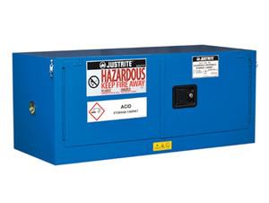 Justrite® ChemCor Piggyback HazMat Safety Cabinet, 12 gal, 2 self-close doors