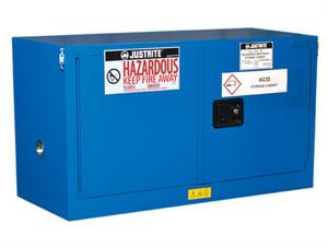 Justrite® ChemCor Piggyback HazMat Safety Cabinet, Cap. 17 gal, Self-Close