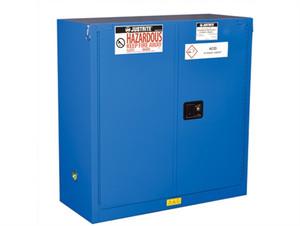 Justrite® ChemCor HazMat Safety Cabinet, 30 Gal, 1 shelf, 2 self-close doors