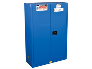 Justrite® ChemCor HazMat Safety Cabinet, Cap. 45 gal, 2 self-close doors