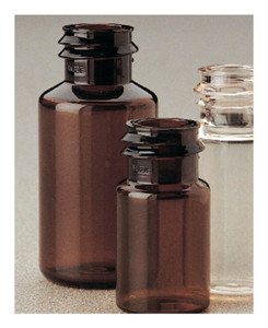 Nalgene® Translucent Amber PETG Serum, Vials with Continuous Thread, Sterile, Shrink-Wrapped Modules, case/1260