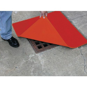 """36"""" x 36"""" Drain Cover, Red"""