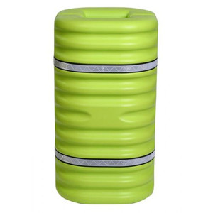 """Fits 9"""" Column, Hi-Visibility Column Protector With Reflective Straps, Lime"""