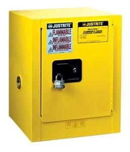 Justrite® Flammable Countertop Cabinet, 4 gallon manual