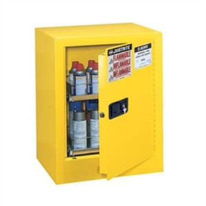 Justrite® Flammable Aerosol Cabinet, 4 gal (holds 24 cans) yellow manual