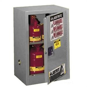 Justrite® Flammable Compac Cabinet, 12 gallon Gray self-closing