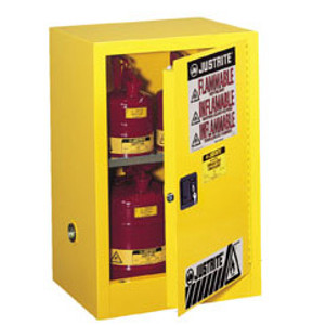 Justrite® Flammable Compac Cabinet, 15 gallon manual