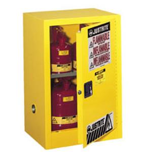 Justrite® Flammable Compac Cabinet, 15 gallon self-closing