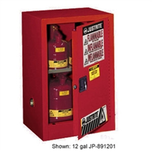 Justrite® Flammable Compac Cabinet, 15 gallon Red self-closing