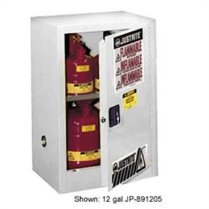 Justrite® Flammable Compac Cabinet, 15 gallon White self-closing