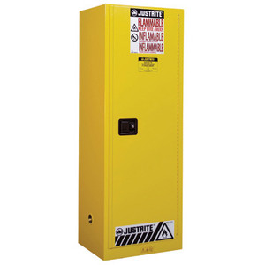 Justrite® Manual Slimline Flammable Cabinet, 22 gallon, Choose Color