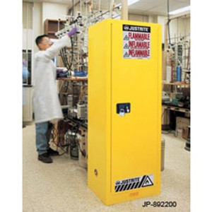 Justrite® Flammable Cabinet, 22 gallon self-closing