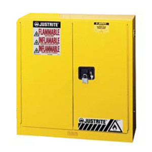 Justrite® Flammable Safety Cabinet, 30 gallon manual