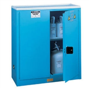 Justrite® Acid Cabinet, 45 gal, ChemCor Lined, Blue, manual
