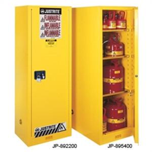 Justrite® Flammable Cabinet, 45 gal Deep Slimline 54 gal, manual